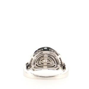 Bvlgari Concentrica Ring 18K White Gold with Diamonds 9 - 60