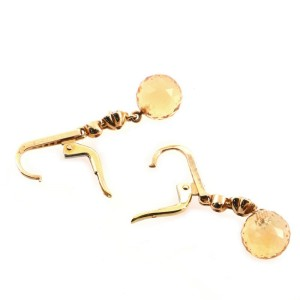 Chanel Mademoiselle Drop Earrings 18K Yellow Gold with Citrine, Fancy Sapphire, and Pave Diamonds