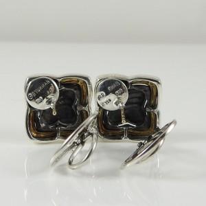 David Yurman Sterling Silver 18K Yellow Gold Quatrefoil Earrings