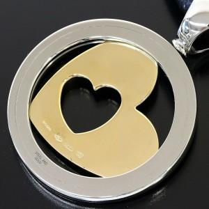 BULGARI BVLGARI 18K Yellow Gold Tondo Heart Leather Necklace Choker