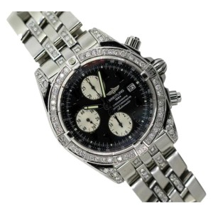 Breitling Chronographe Stainless Steel & Diamond Mens Watch