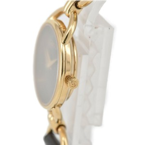 GUCCI 6000.2.L black Dial Gold Plated/Leather Quartz Ladies Watch