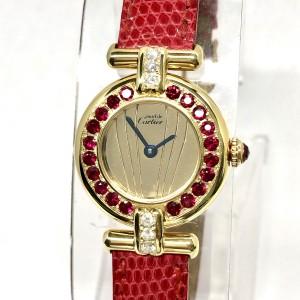 CARTIER Vermeil Colisée Quartz GoldPlated Ladies Watch