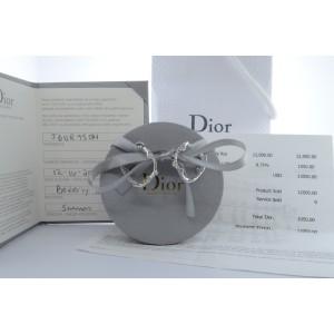 Christian Dior Bois De Rose 18K White Gold & Diamonds Earrings