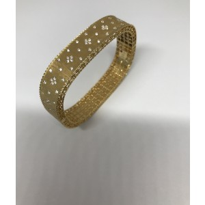 Roberto Coin 18K Yellow Gold with 0.87ct. Diamond Bangle Bracelet