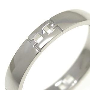 Hermes 18K White Gold Hercules Ring Size 6.25