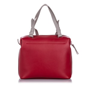 Small Soft Cube Leather Satchel