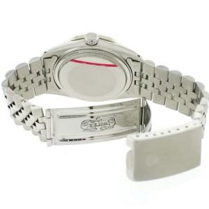 Rolex Datejust 36MM Automatic Stainless Steel Jubilee Watch w/Black Roman Diamond Dial & Bezel