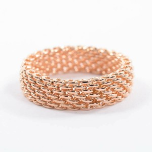 TIFFANY & Co. 18 pink Gold Somerset Ring