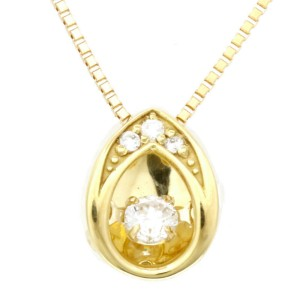 18k yellow Gold Diamond Dancing Drops Necklace CHAT-97