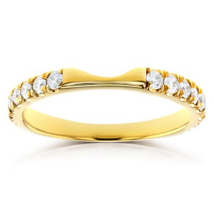 Round Diamond Notched Wedding Band 1/2 CTW in 14k Yellow Gold (Fits Series 61904)
