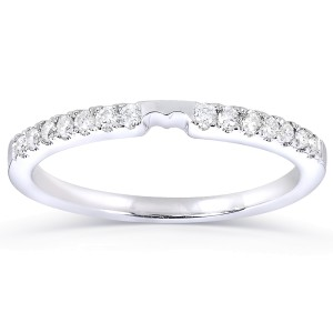 Round-cut Diamond Wedding Band 1/6 Carat (ctw) in 14k White Gold