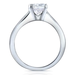 Diamond Classic Solitaire Ring 1 Carat in 14k White Gold