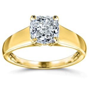 Diamond Classic Solitaire Ring 1 Carat in 14k Yellow Gold