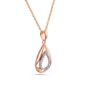 Rose Gold Diamond Hammock Necklace