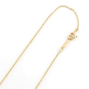 TIFFANY&Co. 18K yellow Gold/Platinum Diamond Dot heart Necklace CHAT-362