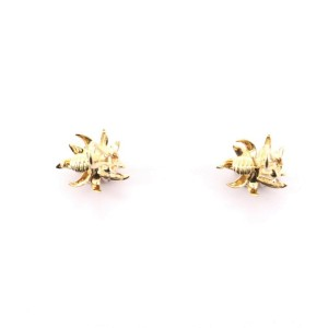 Tiffany & Co. Flame Ear Clip-On Earrings 18K Yellow Gold and Platinum with Diamonds