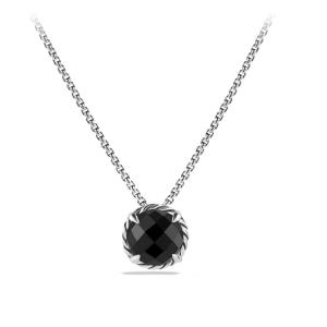David Yurman Sterling Silver & Black Onyx Chatelaine Necklace