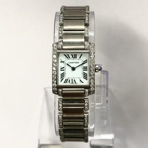 CARTIER TANK FRANCAISE Quartz Steel 1.83TCW Diamond Ladies Watch