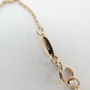 TIFFANY & CO 18k pink gold Diamond By the yard necklace RCB-102