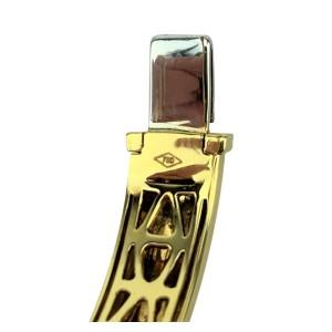 "Roberto Coin Capri Plus 18k Yellow Gold and Diamond Bangle Bracelet 6.5"""