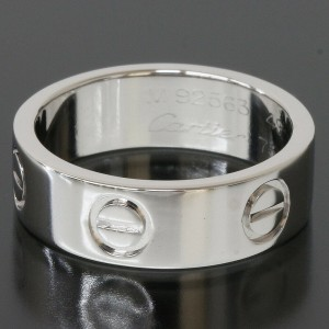 Cartier Love Ring in 18k White Gold US4.75