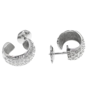 Hermes 18K White Gold Earrings
