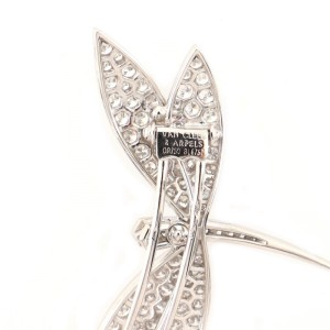 Van Cleef & Arpels Dragonfly Brooch 18K White Gold and Diamonds