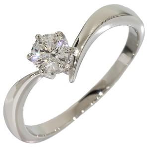 Mikimoto PT950 Platinum Solitaire Diamond Ring