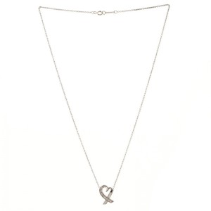 Tiffany & Co. Paloma Picasso Loving Heart Pendant Necklace 18K White Gold with Diamonds