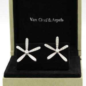 Van Cleef & Arpels Caresse D'Eole Earrings 18k White Gold Diamond