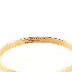 Hermes Kelly Bracelet 18K Rose Gold with Diamonds Small .02CT
