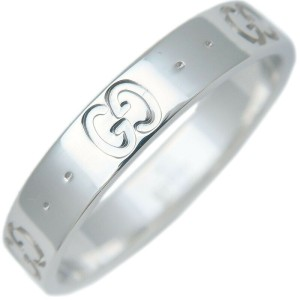 GUCCI ICON K18 White Gold Ring