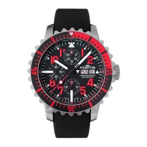 Fortis Black Black Rubber Strap 671.23.43 K Watch