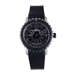 Fortis Black Black Rubber Strap 675.10.81 K Watch