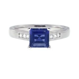 Ritani Iolite .21ctw Diamond Ring Size 6.5