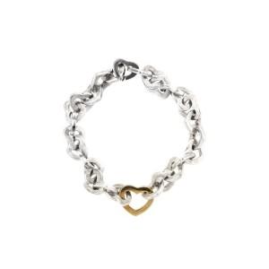 Tiffany & Co. 18K Yellow Gold & Sterling Silver Hearts Bracelet