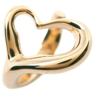 TIFFANY&Co K18 yellow gold  Open heart Ring NST-78