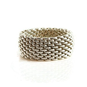 Tiffany & Co. Sterling Silver Woven Band Ring