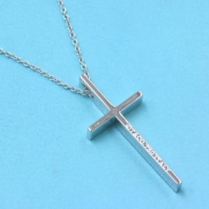 Tiffany & Co white gold Cross Necklace
