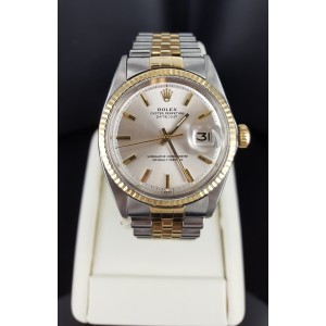 Rolex Datejust 1601 14K Yellow Gold & Stainless Steel 36mm Mens Watch