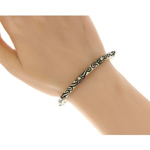 Chrome Hearts 925 Sterling Silver Bangle Bracelet