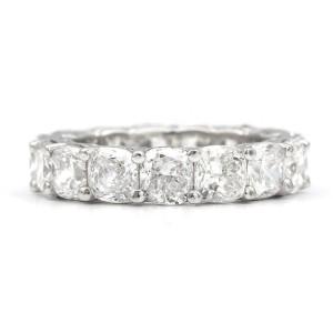 Platinum Ring 8.00ctw. Diamond Size 5.75
