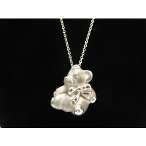TIFFANY & Co. silver bear motif Necklace