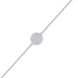 GLAM ® Circle Bracelet in 14K Gold with 0.50ct White Diamonds