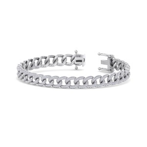 GLAM ® Bracelet Chain in 14K Gold and 1.44ct White Diamonds