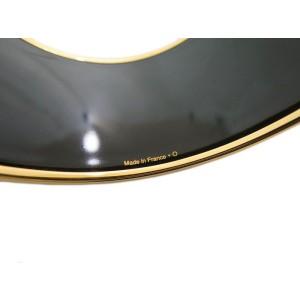 Hermes Enamel Cloisonne And Gold Tone Extra Wide Bangle Bracelet