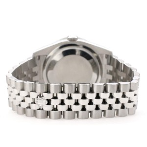 Rolex Datejust 116200 36mm 1.85ct Diamond Bezel/Sky Blue MOP Diamond Dial Steel Watch
