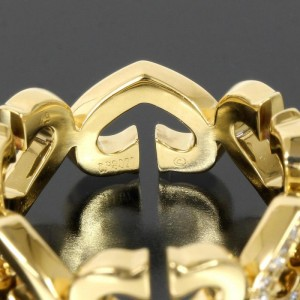 Cartier 18K Yellow Gold C Heart Diamond Ring Size 5.0
