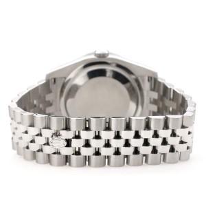 Rolex Datejust 116200 36mm 2.0ct Diamond Bezel/Blue Flower Diamond Roman Dial Steel Watch